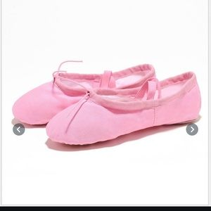 One-size Pink Adjustable Ballet Slippers